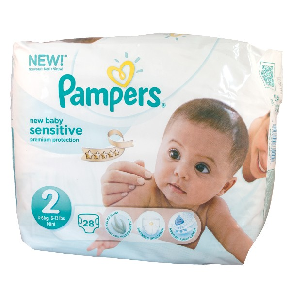 Pampers C New Baby Sensitive Taille 1 2 5kg 23 Couches