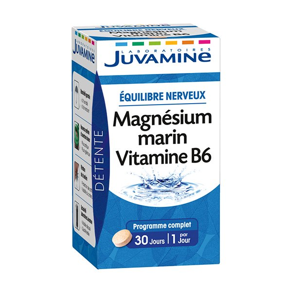 juvamine magnesium marin vitamine b6 30 comprimes prix. Black Bedroom Furniture Sets. Home Design Ideas