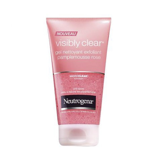 prix de neutrogena visibly clear gel nettoyant exfoliant pamplemousse rose 150ml. Black Bedroom Furniture Sets. Home Design Ideas