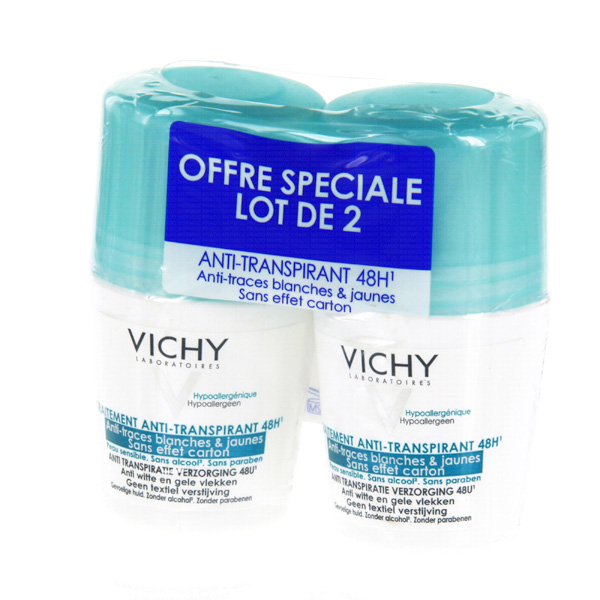 prix de vichy duo d odorant anti transpirant anti trace bille 2x50 ml. Black Bedroom Furniture Sets. Home Design Ideas