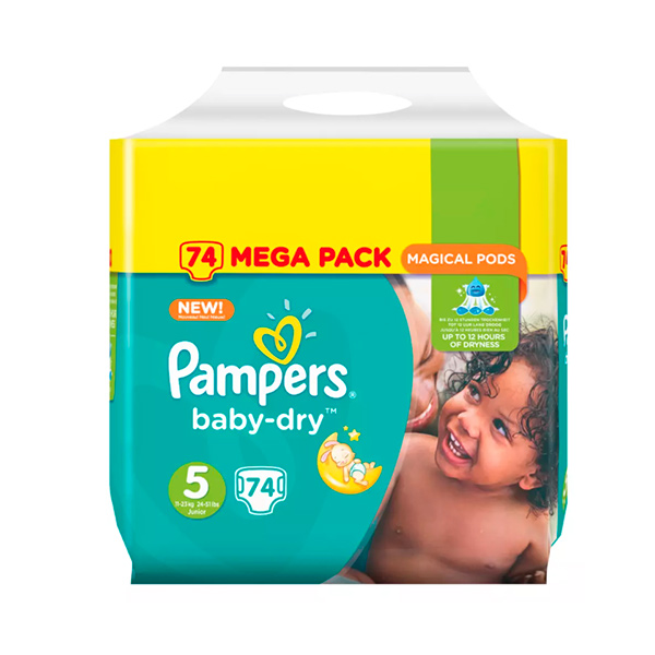 Prix de pampers baby dry taille 5 74 couches - Comparateur de prix couches pampers ...