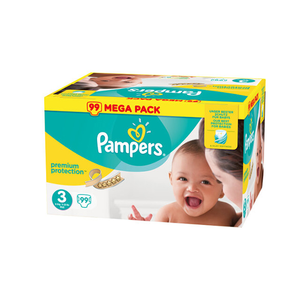 prix de pampers premium protection taille 3 99 couches. Black Bedroom Furniture Sets. Home Design Ideas