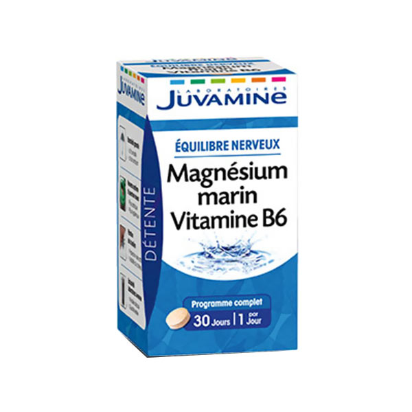 prix de juvamine magnesium marin vitamine b6 30 comprimes. Black Bedroom Furniture Sets. Home Design Ideas